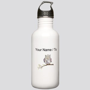 Custom Sleeping Owl Water Bottle