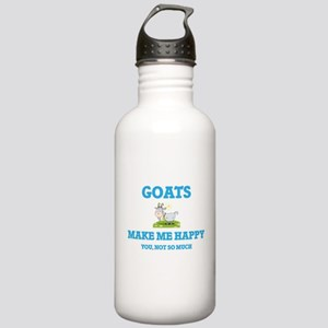 Goats Make Me Happy Stainless Water Bottle 1.0L