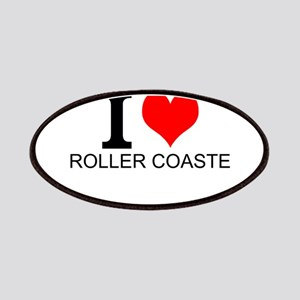 I Love Roller Coasters Patches