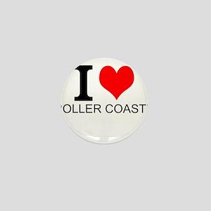 I Love Roller Coasters Mini Button