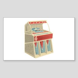 Grunge Retro Jukebox Sticker