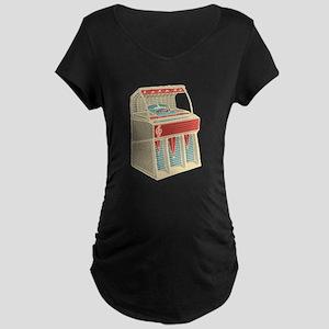 Grunge Retro Jukebox Maternity T-Shirt