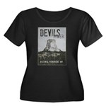 Devils Tower Stamp Plus Size T-Shirt