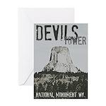 Devils Tower Stamp Greeting Cards