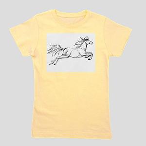 Leaping Art Horse Girl's Tee