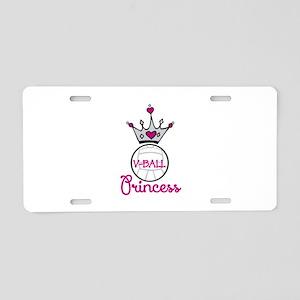 V-ball Princess Aluminum License Plate