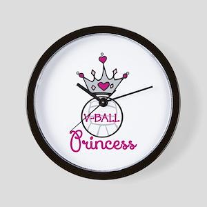 V-ball Princess Wall Clock