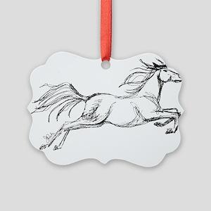 Leaping Art Horse Ornament