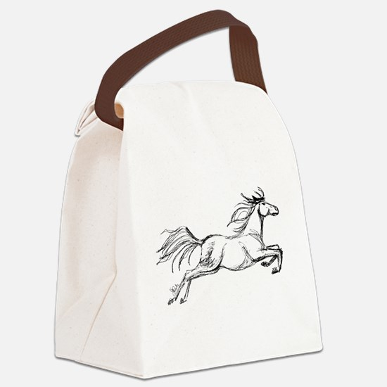 Leaping Art Horse Canvas Lunch Bag