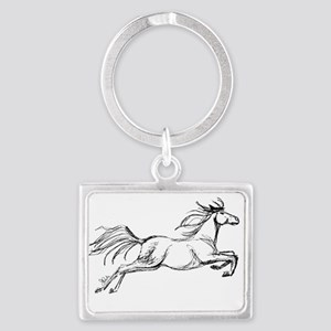 Leaping Art Horse Keychains