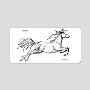 Leaping Art Horse Aluminum License Plate