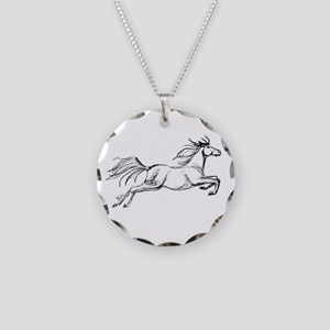 Leaping Art Horse Necklace