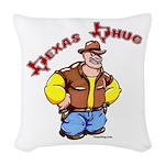 Texas Thug Woven Throw Pillow