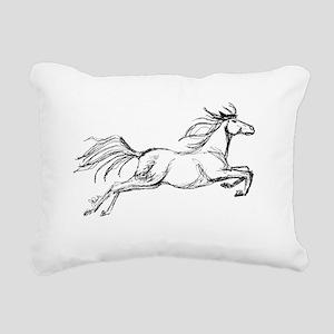 Leaping Art Horse Rectangular Canvas Pillow