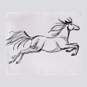 Leaping Art Horse Throw Blanket