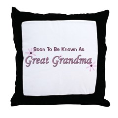 Soon To Be Great Grandma Throw Pillow