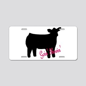 Show Heifer Aluminum License Plate