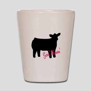 Show Heifer Shot Glass