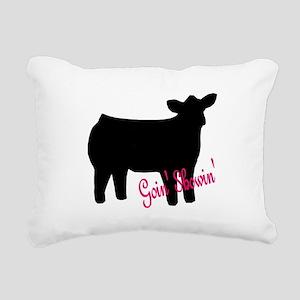 Show Heifer Rectangular Canvas Pillow