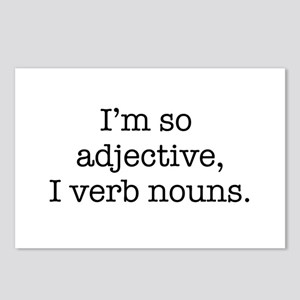 Im so adjective I verb nouns Postcards (Package of