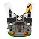 Halloween Haunted House Ghosts Bib