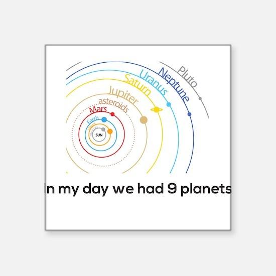 9 planets Sticker