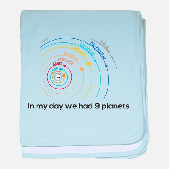 9 planets baby blanket
