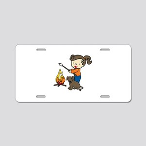 Campfire Girl Aluminum License Plate
