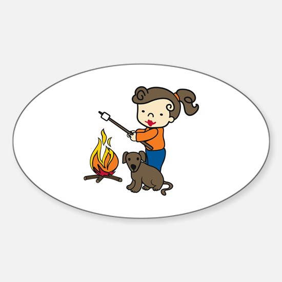 Campfire Girl Decal