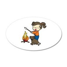 Campfire Girl Wall Decal