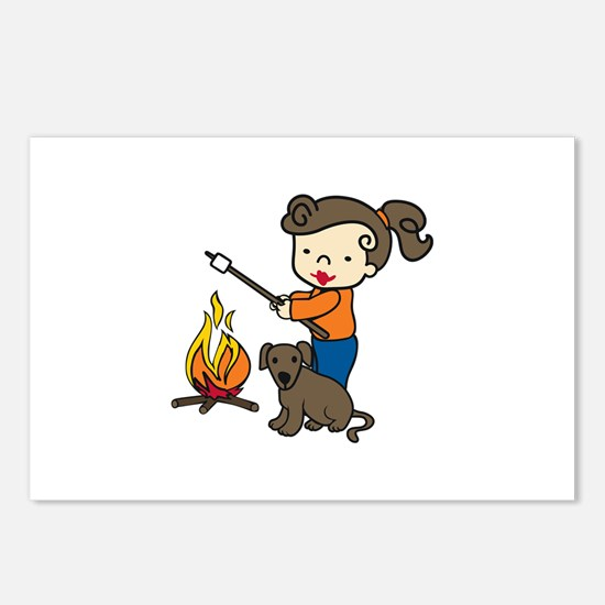 Campfire Girl Postcards (Package of 8)