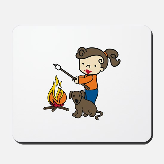 Campfire Girl Mousepad