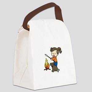 Campfire Girl Canvas Lunch Bag