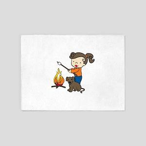 Campfire Girl 5'x7'Area Rug