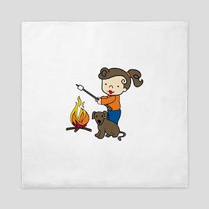Campfire Girl Queen Duvet