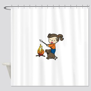 Campfire Girl Shower Curtain