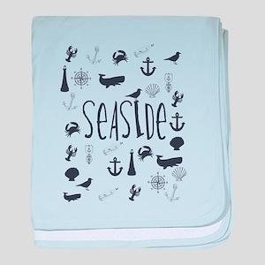 Nautical Seaside baby blanket