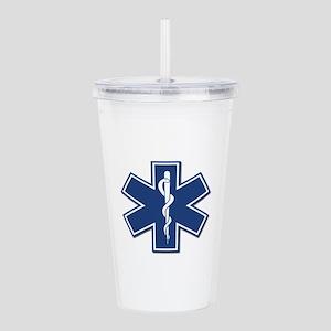 EMS EMT Rescue Logo Acrylic Double-wall Tumbler