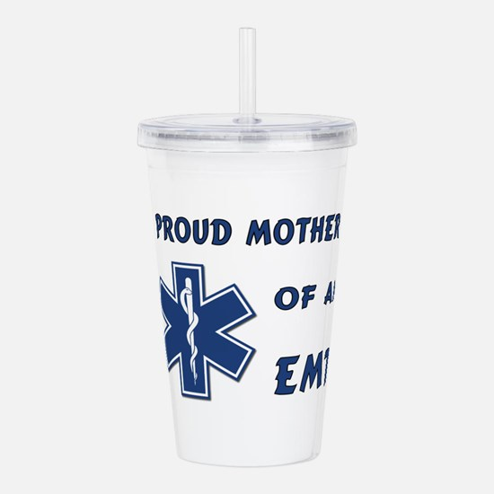 Proud Mother of an EMT Acrylic Double-wall Tumbler