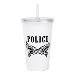 Police Tattoo Acrylic Double-Wall Tumbler