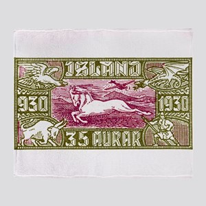 Antique 1930 Iceland Airmail Pony Postage Stamp Th