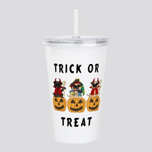 Halloween Trick or Treat Pugs Acrylic Double-wall