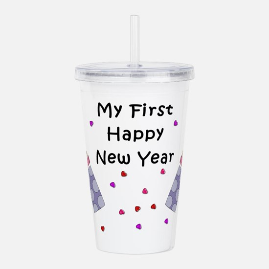 Babys First New Year Acrylic Double-Wall Tumbler