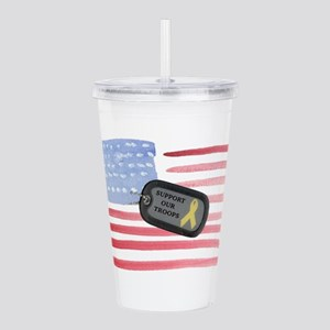America Support Troops Acrylic Double-wall Tumbler
