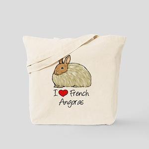 I Heart French Angora Tote Bag