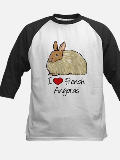I Heart French Angora Baseball Jersey
