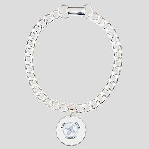 IVF Logo Blue Charm Bracelet, One Charm