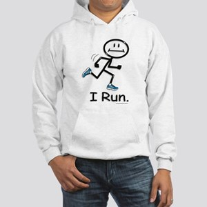 Running Stick Figure Hooded Sweatshirt