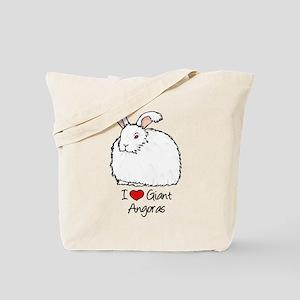 I Heart Giant Angoras Tote Bag