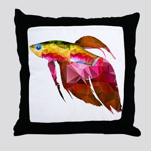 Beta Fish for Polygon Mosaic Red Yellow Throw Pill